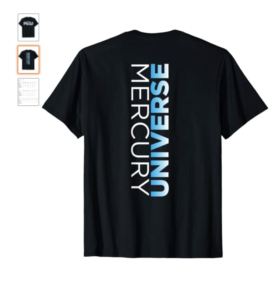 MU Classic Mercury Universe Back T-Shirt